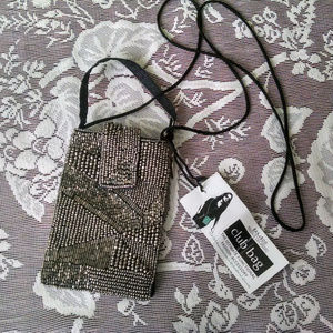 Capiz Flowers Bamboo Trading Company Cell Phone or Club Bag